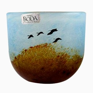Small Art Glass Vases by Bertil Vallien for Kosta Boda, 1980s, Set of 5