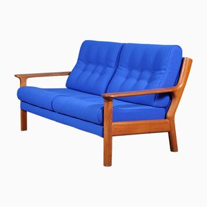 Danish Teak and Wool Sofa by Juul Kristensen for Glostrup, 1960s