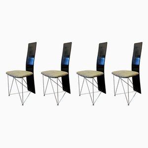 Postmoderne Esszimmerstühle von Torstein Flatøy für Bahus, 1980er, 4er Set