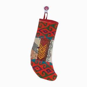 Calcetín de Navidad de kilim hecho a mano