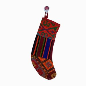 Calza natalizia contemporanea di Vintage Kilim