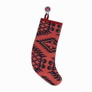 Contemporary Christmas Stocking made from Vintage Kilim