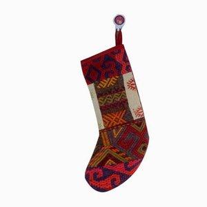 Calcetín de Navidad contemporáneo de Vintage Kilim