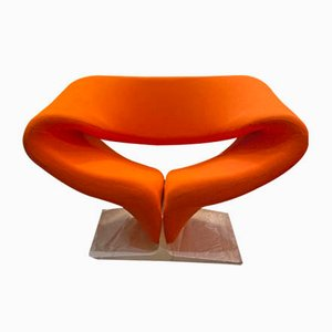 White Lacquered Ribbon Chair by Pierre Paulin for Artifort, 1970s