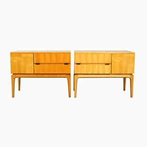 Maple Nightstands, 1950s, Set of 2