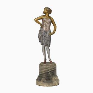 Figura austriaca de bronce de Bruno Zach, años 20