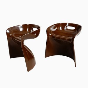 Stools by Winfried Staeb for Reuter's Form + Life Collection, 1960s, Set of 2