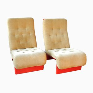 Mid-Century Danish Lounge Chairs from Cado, Set of 2