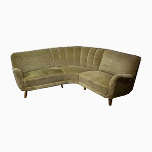 Vintage Green Cocktail Sofa, 1950s