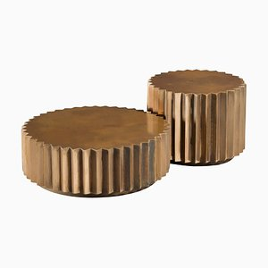 Doris Cast Bronze Multifaceted Coffee Table Set from Fred & Juul