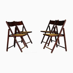 Folding Dining Chairs, 1970s, Set of 4