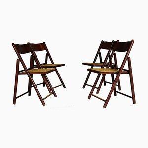 Klappbare Esszimmerstühle, 1970er, 4er Set