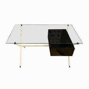 Schreibtisch aus Eiche & Rauchglas von Franco Albini für Knoll Inc. / Knoll International, 1970er