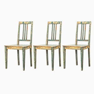 Swedish Dining Chairs, 1930s, Set of 3