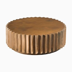 Doris Cast Bronze Multifaceted Coffee Table from Fred & Juul