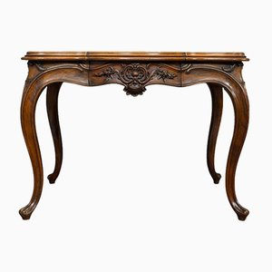 Antique Louis XV Style French Walnut Serpentine Dining Table