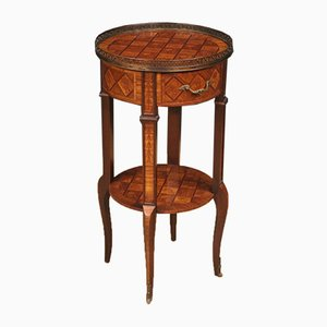 French Rosewood, Walnut, Maple, and Mahogany Side Table, 1960s