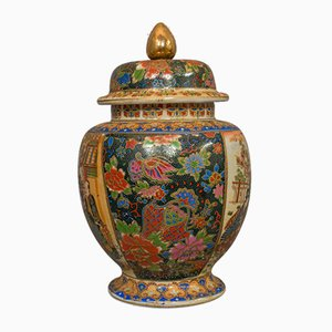 Recipiente para especias chino vintage, años 40
