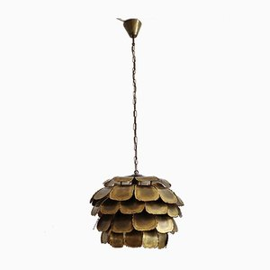 Model 6435 Brass Artichoke Ceiling Lamp from Holm Sørensen & Co, 1960s