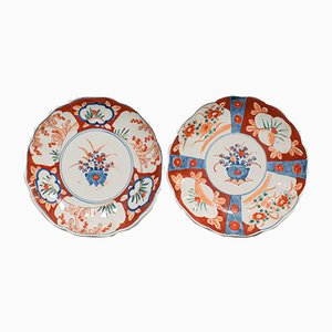 Vintage Ceramic Imari Dishes, 1940s, Set of 2