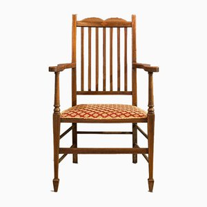 Antique Edwardian English Mahogany Armchair