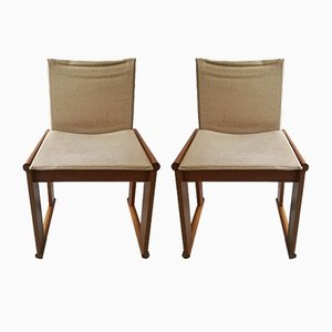 Monk Dining Chairs by Tobia & Afra Scarpa for Molteni, 1970s, Set of 2
