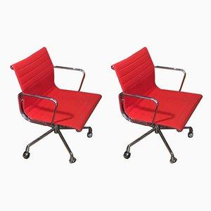 Modell EA 108 Schreibtischstühle von Charles & Ray Eames für Vitra, 1990er, 2er Set