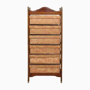 Mueble inglés eduardiano antiguo de caoba y latón