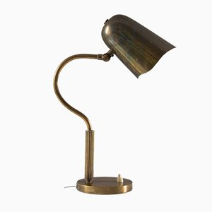 Mid-Century Swedish Perforated Brass Table Lamp from Boréns, 1950s