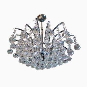 Kronleuchter aus Kristallglas & Chrom von Christoph Palme für Palwa, 1970er