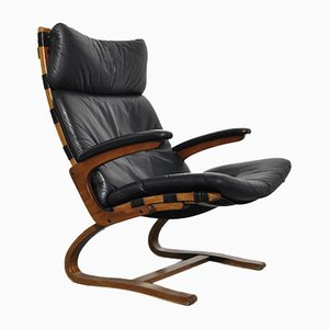Vintage Sessel mit Gestell aus Schichtholz im skandinavischen Design von Ingmar Relling für Westnofa, 1960er
