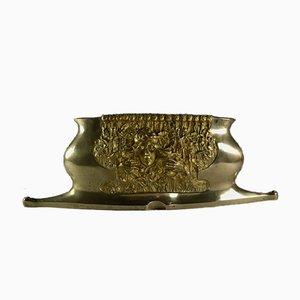 Antiker Pflanzer aus Bronze im Jugendstil von Charles Korschann