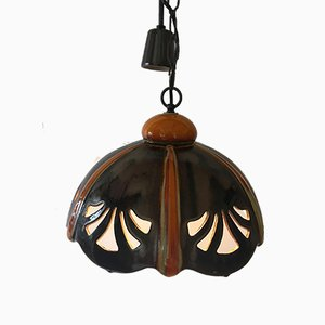 German Ceramic PAN. Goebel Ceiling Lamp, 1970s