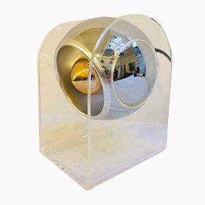 Lámpara de mesa esférica de plexiglás de Gino Sarfatti para Arteluce, años 60