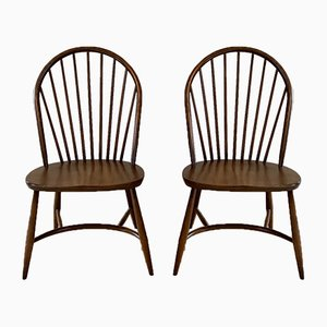 Vintage Model 909 Latimer Dining Chairs by Lucian Ercolani for Ercol, Set of 2
