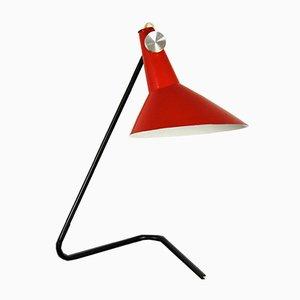 Asymmetrische Tischlampe in Schwarz & Rot von Josef Hurka für Napako, 1960er