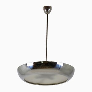 Chrome Ceiling Lamp by Josef Hurka for Napako, 1930s