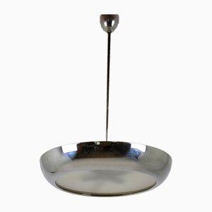Lámpara de techo de metal cromado de Josef Hurka para Napako, años 30