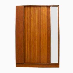 Aparador de chapa de teca con puertas de persiana de Austinsuite, años 60