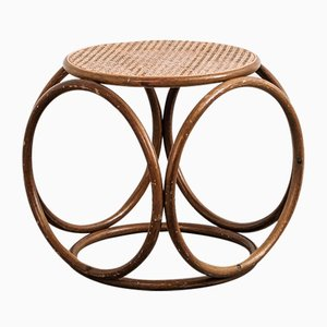 Antique Bentwood Circular Stool from Thonet