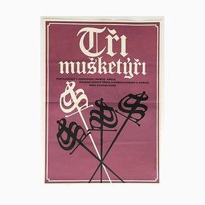 Póster de la película The Three Musketeers de Alexej Jaroš, 1974