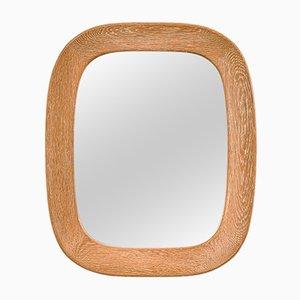 Specchio da parete ovale con cornice in quercia di Per Argén per Fröseke AB Nybrofabriken, Svezia, anni '50