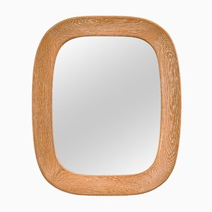 Swedish Oval Oak-Framed Wall Mirror by Per Argén for Fröseke AB Nybrofabriken, 1950s
