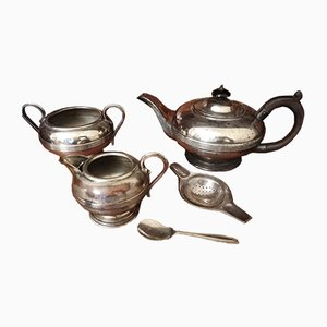 Antique Georgian Tea Set from Harrowby, Set of 5