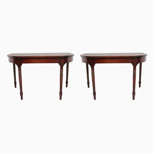 19th Century Mahogany Console Tables, Set of 2