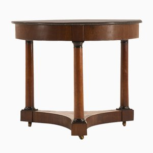 19th Century French Mahogany and Marble Side Table