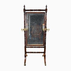 Antiker Regency Spiegel mit Rahmen aus Mahagoni