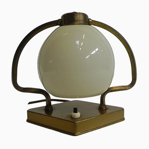 Dutch Globe Glass Table Lamp, 1930s