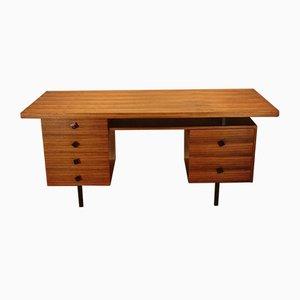 Schreibtisch aus hellem Palisander, 1950er