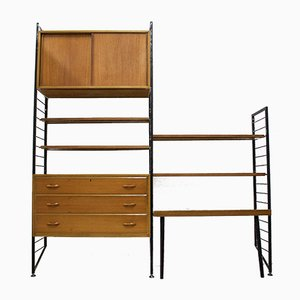 Mid-Century Teak Wall Unit from Ladderax, 1960s